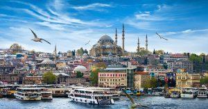 vue sur la ville d'Istanbul